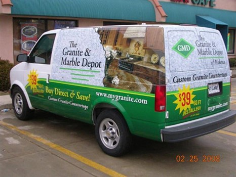 Full color complete digital vehicle wrap