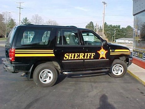 Vehicle graphics for official vehicles