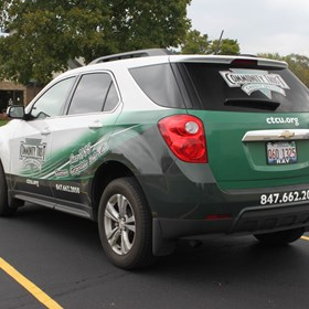 Partial Wrap on SUV for Community Trust Credit Union.  Gurnee, IL