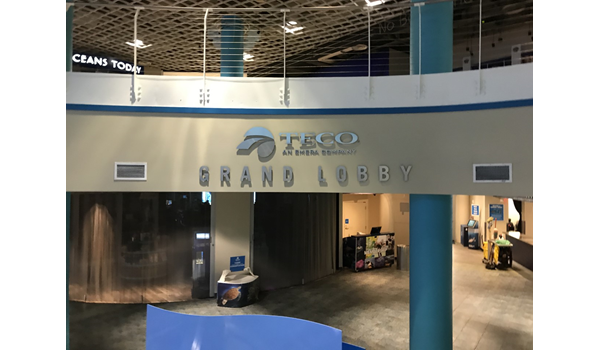 TECOI Grand Lobby at The Florida Aquarium 3D Signs & Dimensional Letters