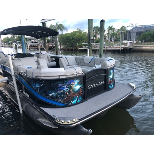 Partial Boat Wrap Tampa FL by Image360 Tampa Ybor City