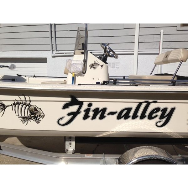 Fishing Boat Lettering