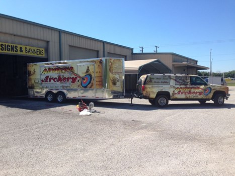 Adventure Archery Truck and Trailer Wraps