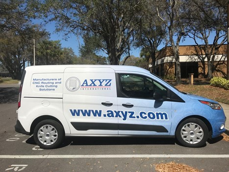 AXYZ Delivery Truck Wrap
