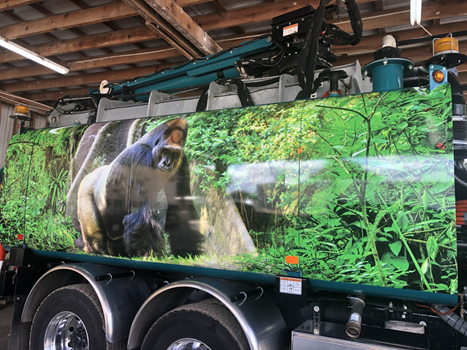 Bay Area Environmental Services Gorilla Truck Wrap