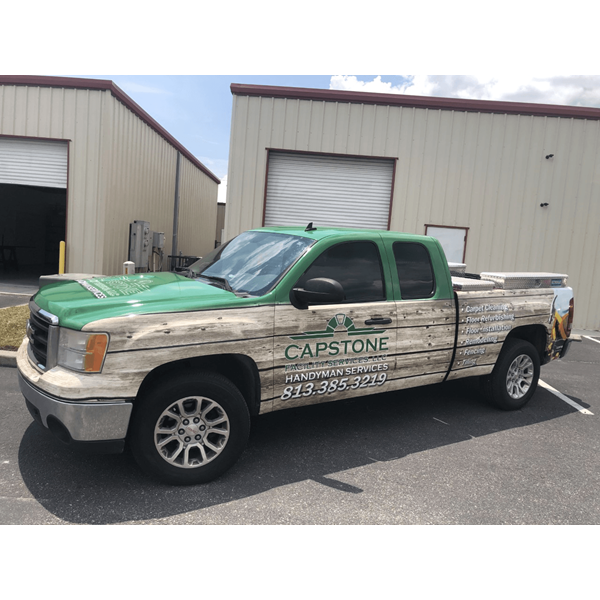 Capstone Facility Services Full Vehicle Wraps