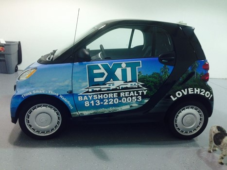 Exit Real Estate Car Wrap