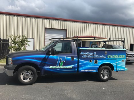 Haylock Mechanical AC Truck Wrap