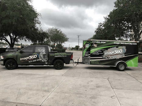 Image360 Tampa Ybor City Full Vehicle and Trailer Wrap