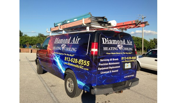Diamond Air AC Van Wrap