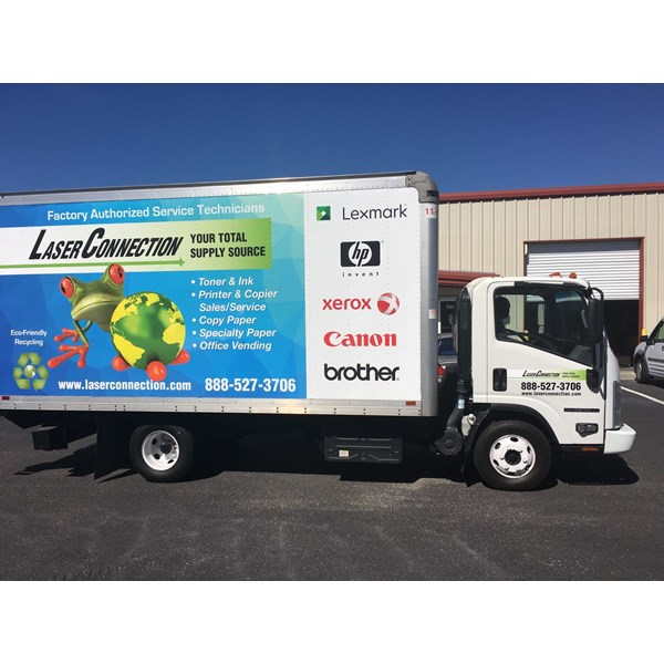 Laser Connection Truck Full Vehicle Wrap