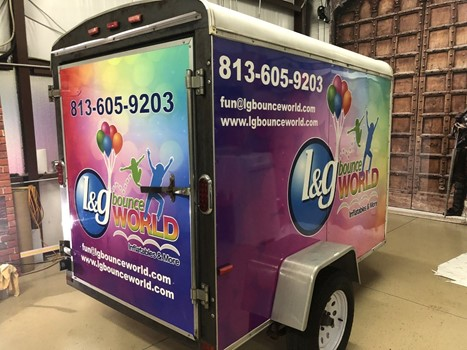 LG Bounce World Full Trailer Wraps