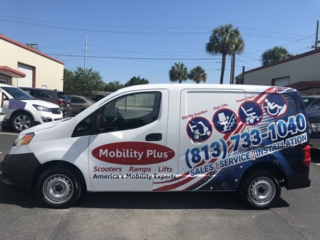 Mobility Plus Van Full Vehicle Wrap