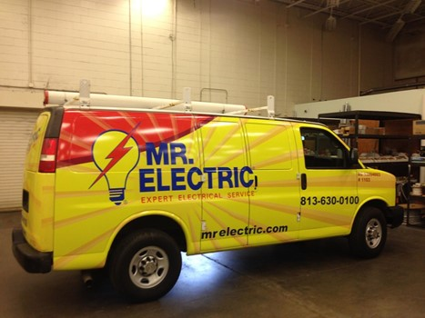 Mr Electric Van Wrap