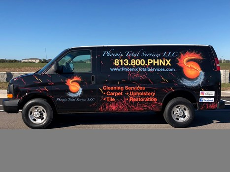Phoenix Cleaning Van Wrap