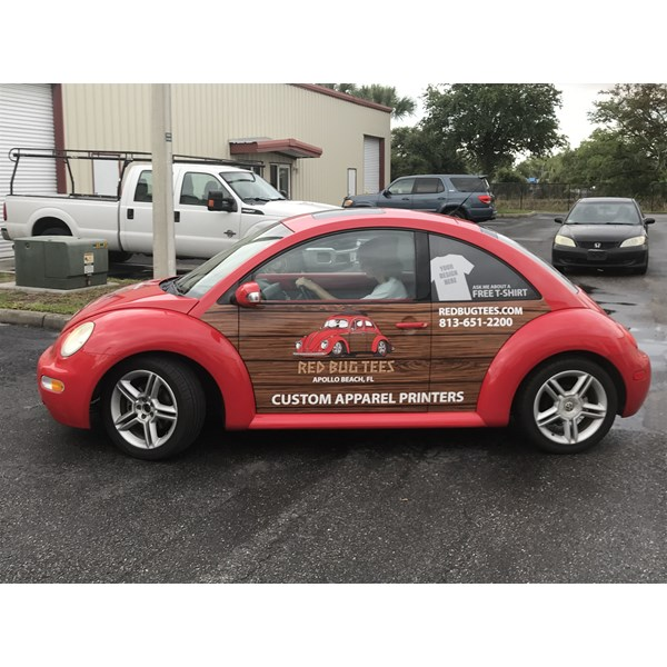 Red Tees VW Bug Wrap