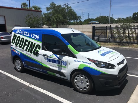 Southern Pro Roofing Van Wrap