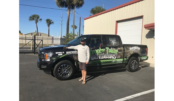Trophy Taker Outdoors Truck Wrap