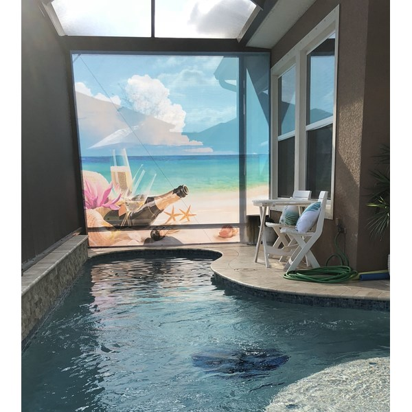 Pool Screen Wall Mural