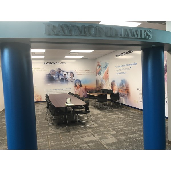 Raymond James Mural at Junior Achievement Wall Mural