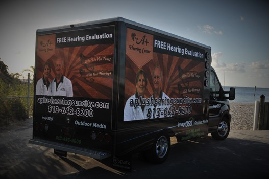 A+ Hearing Center Mobile Digital Truck Advertising