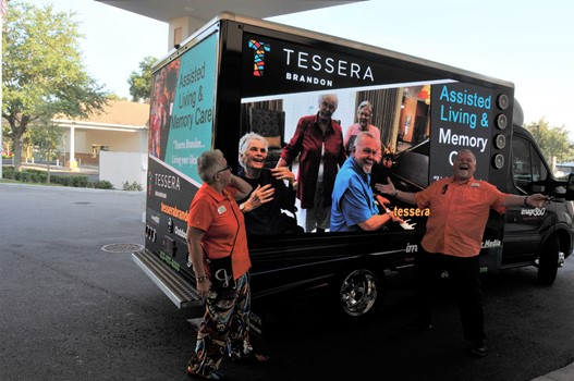 Tessera of Brandon Mobile Digital Truck Advertising