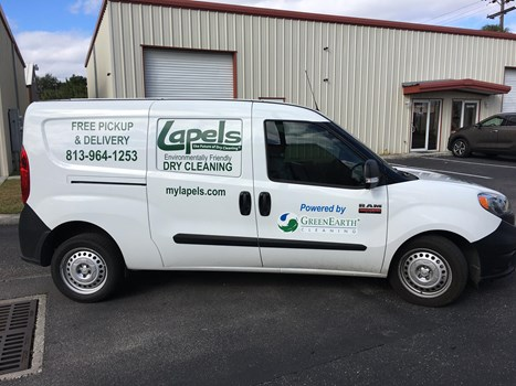 Lapels Cleaners Fleet Vehicle Decals & Lettering